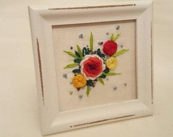 Woven Roses Mini Frame