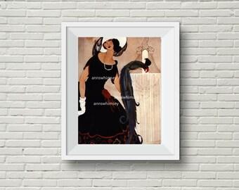 Antique Restored Vogue Art Print, Living Room Art, Bedroom Art, Family Room Art, Office Art #452  FREE SHIPPING