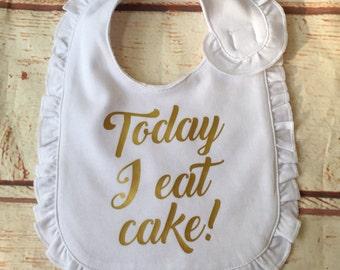 First Birthday Bib - Girls First Birthday Bib - First Birthday Outfit - First Birthday Cake Smash- Cake Smash Photo Prop