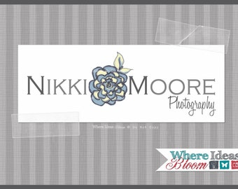 Pre-Made Business Logo - Customized for the buyer - Painted Nikki Flower