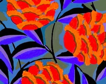 Vintage Flowers 9 x 12 Needlepoint Canvas