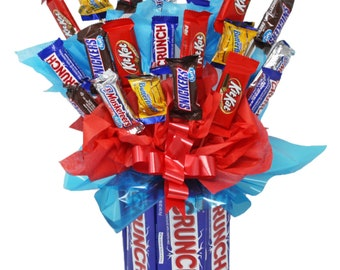 Candy Bouquet   Red White and Blue Theme   Mini Candy Assortment   Thank You   Graduation   Appreciation   Get Well Soon