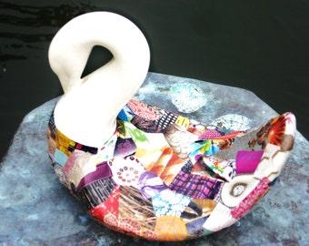 Funkytown Swan Decoupage