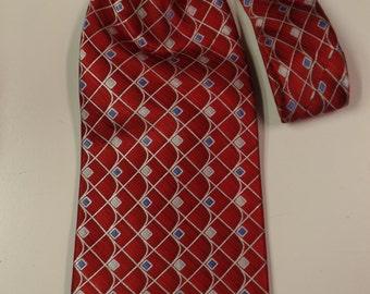 Red Silk Vintage Stafford Necktie