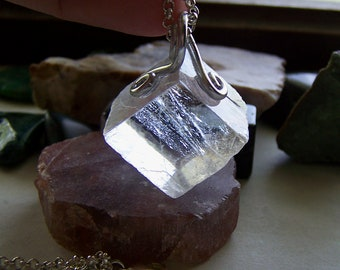 Viking Sunstone Natural Optical Calcite Crystal Pendant