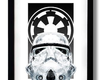 Star White Empire Art Print by RUBIANT