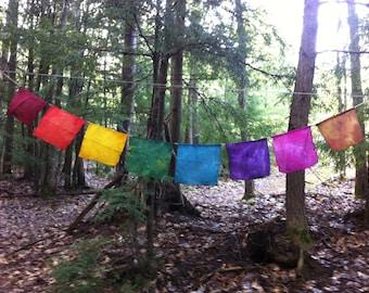 Prayer Flags - Silk and Hemp