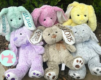 Personalized Bunny-Custom Bunny-Stuffed Bunny-Personalized Gift-Bunny with Name-Bunny