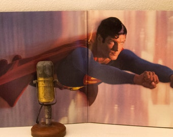 """Superman: The Movie """"Original Motion Picture Soundtrack"""" with SCARCE DC COMICS Insert & deluxe photo inner sleeves 2Lp Vinyl"""