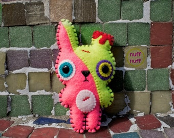 Felt ZomBunny Evolution- Pocket Plush toy
