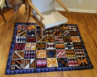Handmade rug, Peruvian rug, handwoven rug, rugs, rug, area rug