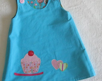 Reversible A Line Cup Cake Dress