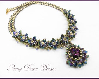 Monet's Water Lilies Necklace Tutorial