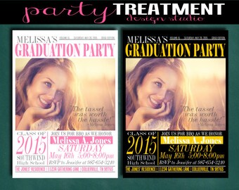 Modern Photo Graduation Party Invitation Graduation Announcement #122