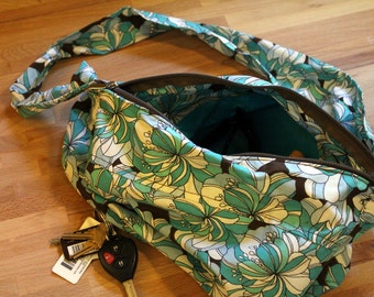 Cross Body Sling Bag Pattern PDF by Skadoot on Etsy.     Sew your own carry everything purse for travel weekend & every day.