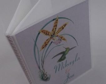 Wedding Photo album Hummingbird Engagement Anniversary personalized bridal shower gift 4x6 or 5x7 277