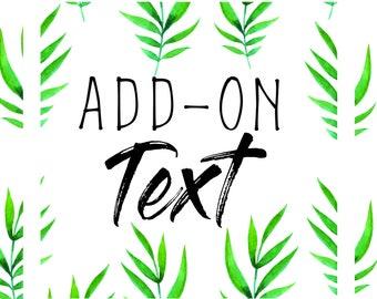 Add-On Text upgrade - Modern Hippie