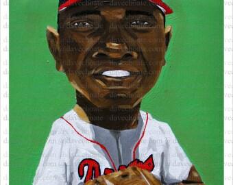 Hank Aaron, Atlanta Braves Art Photo Print