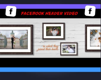 Facebook Header VIDEO, mp4 and fast delivery, video background, your texts, images, logo