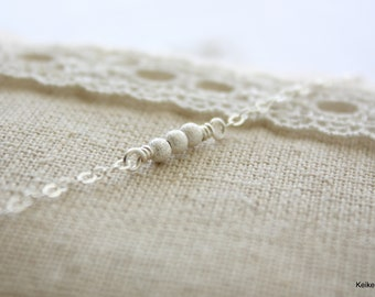 Dainty Silver Necklace , Tiny Stardust Necklace , Delicate Necklace , Minimal Layering Necklace