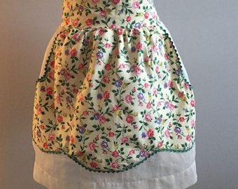 Authentic Vintage Floral Half Apron