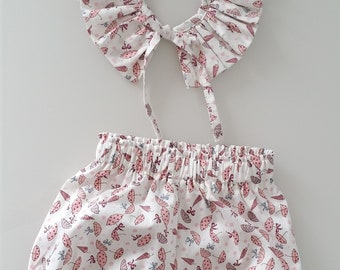 removable pierrot collar and bloomer