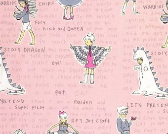 Fat Quarter Act it Out Dress Up Play Kids Cotton Quilting Fabric -Michael Miller