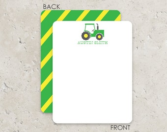 Tractor Flat Notecards Stationery with 2-sided printing