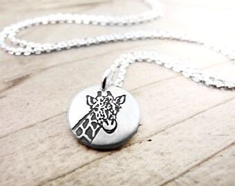 Giraffe Necklace, Giraffe Jewelry,  Giraffe Pendant, Animal Necklace, Dainty Necklace, Everyday Necklace, Giraffe charm, Birthday Gift,