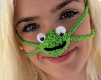 Nose Warmer, Happy Frog, Unisex, Outdoor Fun, Sports, Games, Tailgating, Work, Winter Games, Fun Gift, Nose Mitten, Nose Muff, Mom Dad Gift