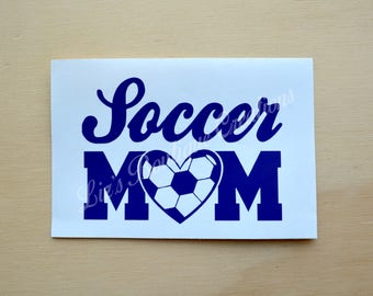 Soccer mom decal, sport mom decal, vinyl sticker, Yeti soccer custom decal, soccer mom sticker, soccer mom heart decal, soccer mom car decal