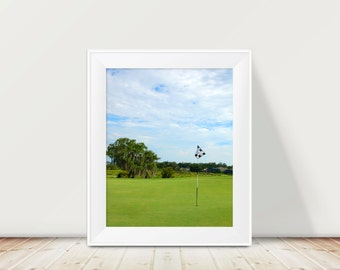 Golf Print, Lonely Putting Green, Beautiful Florida , Golf Art