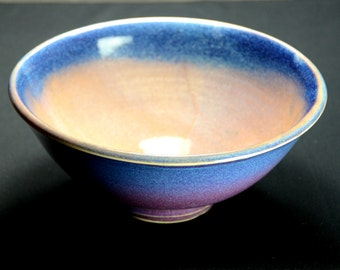 Purple Blue Ceramic Serving Bowl, Hand Thrown Porcelain Pottery, Cereal, Salad, Soup, Mixing, Unique Gift, Mom, Lavender | Caldwell Pottery