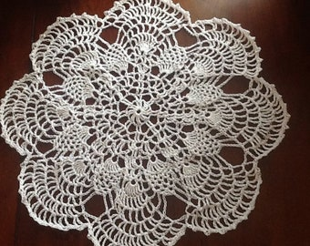 New handmade lace white doily