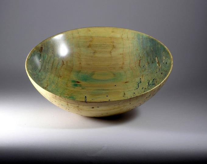Distressed maple bowl