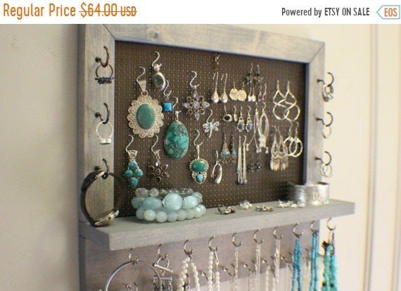 ON SALE You Pick The Satin and Mesh Wall Mounted Jewelry