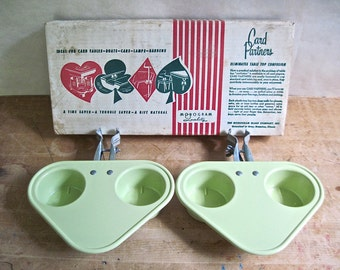 Retro Card Partners Set, Plastic Tray, Plastic Coasters, Card Table, Drink Holder, Drink Caddy, Lime Green, Koozie, Picnic, Beer Coozie