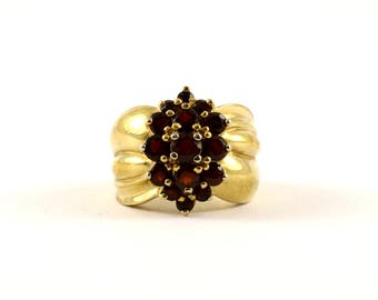 Vintage Multi Color Crystal Band Ring 925 Sterling RG 3669