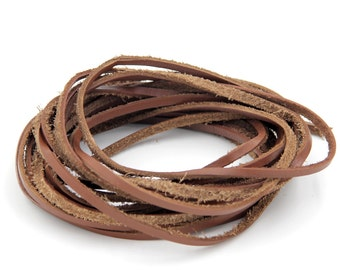 4m DIY Leather Cord Jewelry Finding For Bracelet Necklace 3mm*1mm  ja658