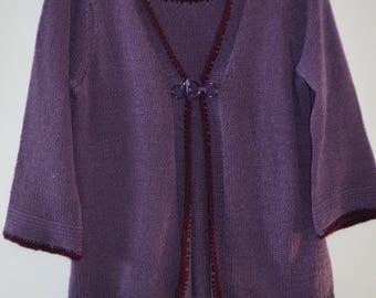50% SPRING SALE!  Jana sweater both in a purple 90's knit M/L