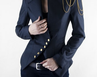 Milla jacket, jacket, blazer, blazer jacket, business clothes, business, office, stylish, navy jacket, womens clothing, navy blazer
