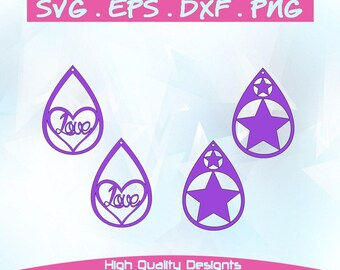 Earrings,leather jewelry making, SVG, DXF,PNG,Cricut, Silhouette,cutting machine,vector graphic,explore,template