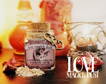 Love Magick Incense *Aphrodite's Wish* Witchcraft - with herbs, resins and crystals -Lavender, Rose, Ginger  & Rose Quartz