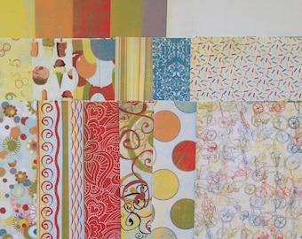 Cupcake - 6x6 Paper Pack, Basic Grey, Summer, Art Journaling, Scrapbooking, Planners, Card Making