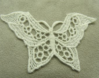 NICE - White - embroidered Butterfly