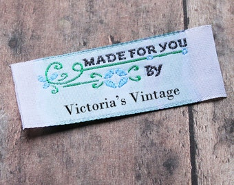 Personalized Sewing Labels, Custom Labels, Vintage Labels, Woven Labels, Personalized Labels for Crafts, Fabric Labels, Sewing Labels