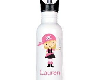 Female Pirate 20 oz. Personalized Spout Water Bottle - FREE SHIPPING!