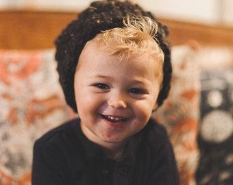 Puff stitch beanie--Toddler