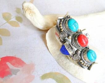Tribal Tibetan Statement Ring