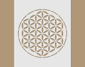 La flor de la vida - geometría sagrada de la plantilla